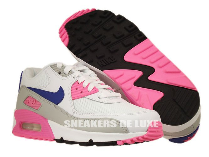 official photos af9af f73bd 616730-104 Nike Air Max 90 Essential WhiteConcord-Zen Grey- ...