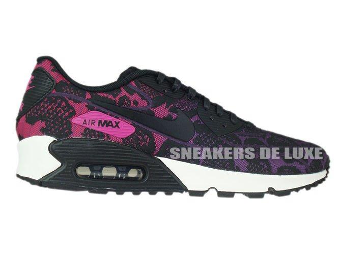 749326-500 Nike Air Max 90 Jacquard Mulberry/Black-Sport Fuchsia-Summit ...
