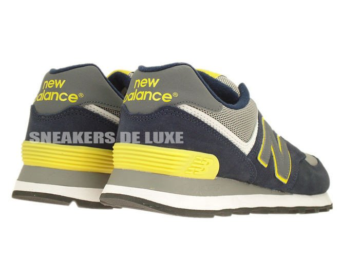 new balance 574 navy yellow new balance