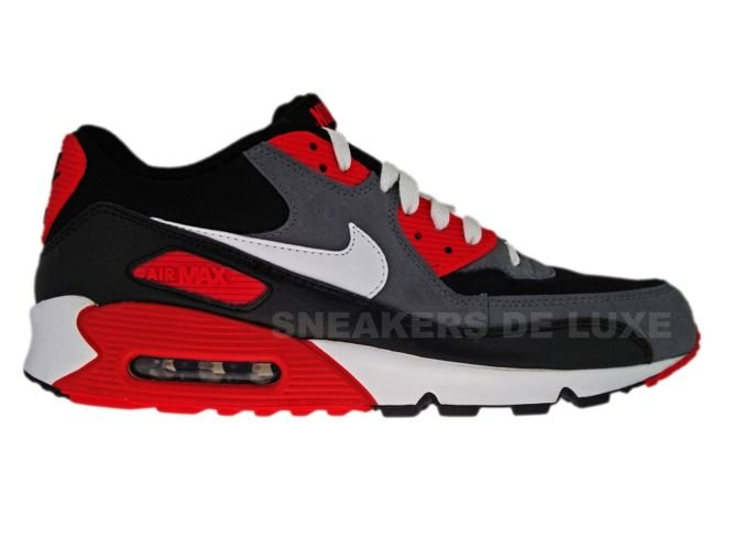 black grey and red air max 90