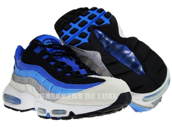English: Nike Air Max 95 Varsity Royal/Black-Italy blue-Metallic Silver 609048-404 609048-404