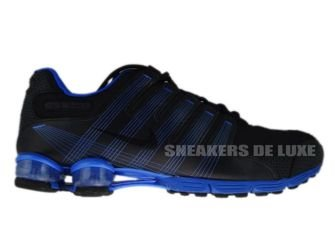 407155-004 Nike Shox NZ 2.0 Black/Black-Lyon Blue
