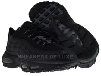 609048-004 Nike Air Max 95 Black/Black-Flint Grey