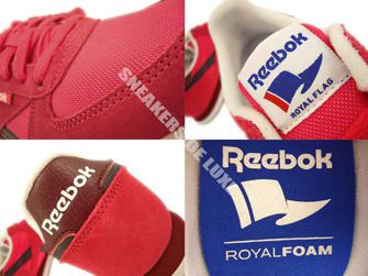 M46195 Reebok Royal CL Jogger Blazingpink/Fauxindigo/Rusticwine/White/Black/Ryl